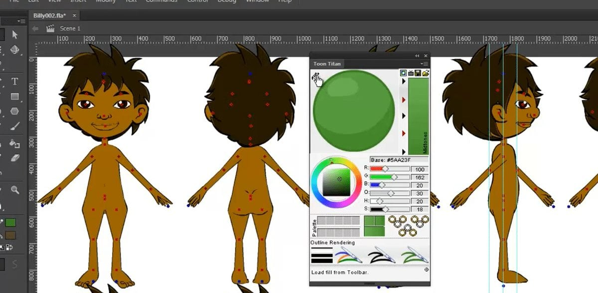 Learn to sample and import color into Toon Titan